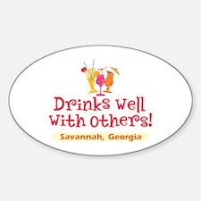 Drinks Well-Savannah, GA- Decal