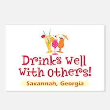Drinks Well-Savannah, GA- Postcards (Package of 8)