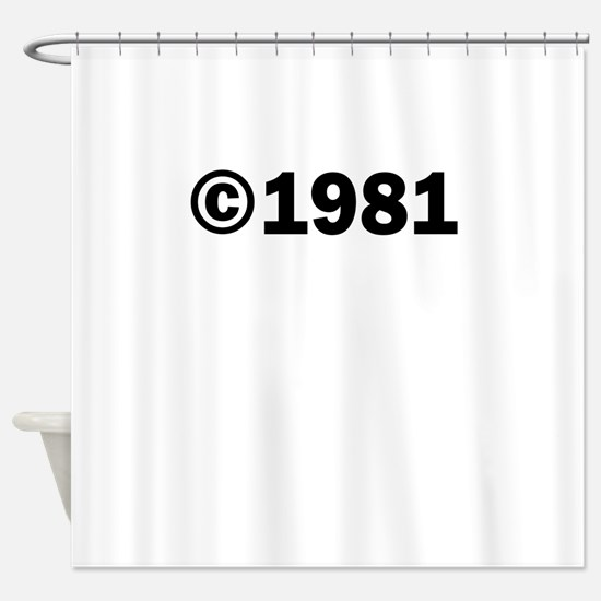 COPYRIGHT 1981 Shower Curtain
