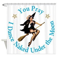 Dance Naked Under the Moon Shower Curtain