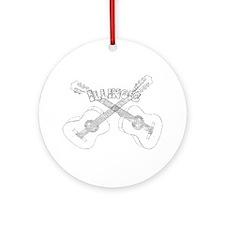 Illinois Guitars Ornament (Round)