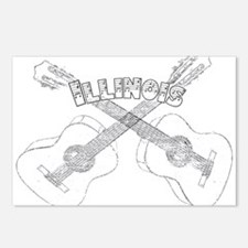 Illinois Guitars Postcards (Package of 8)