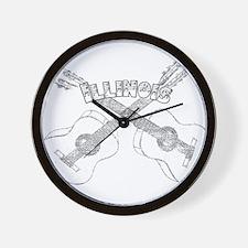 Illinois Guitars Wall Clock