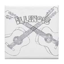 Illinois Guitars Tile Coaster