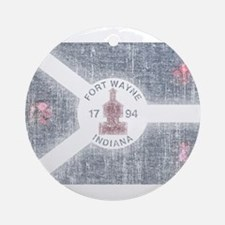 Fort Wayne Vintage Flag Ornament (Round)