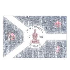 Fort Wayne Vintage Flag Postcards (Package of 8)