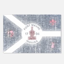 Fort Wayne Vintage Flag Postcards (Package of 8)