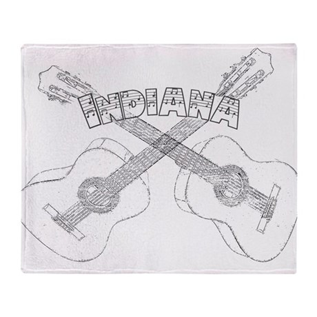 Indiana Guitars Throw Blanket