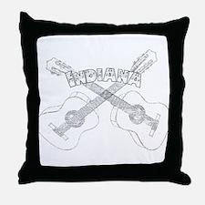 Indiana Guitars Throw Pillow