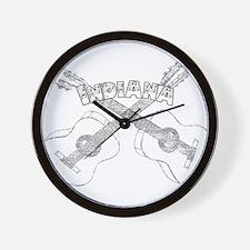 Indiana Guitars Wall Clock