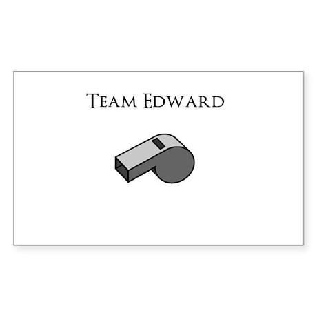 Team Edward with Whistle Sticker