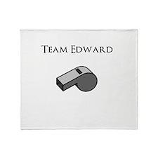 Team Edward with Whistle Throw Blanket