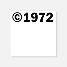 COPYRIGHT 1972 Sticker