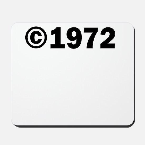 COPYRIGHT 1972 Mousepad