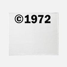 COPYRIGHT 1972 Throw Blanket
