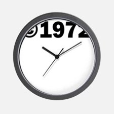 COPYRIGHT 1972 Wall Clock