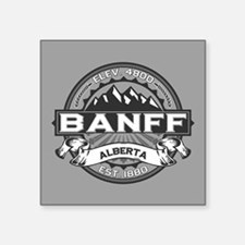 "Banff Grey Square Sticker 3"" x 3"""