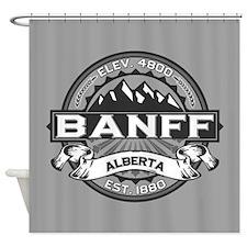 Banff Grey Shower Curtain