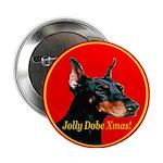 Jolly Dobe Xmas Button