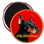 Jolly Dobe Xmas Magnet