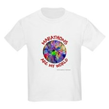 Marathons are my World Kids T-Shirt