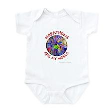 Marathons are my World Infant Bodysuit