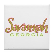 Savannah Script - Tile Coaster