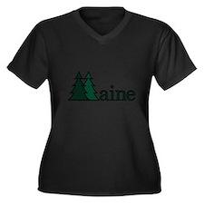 Maine Pine Tree Plus Size T-Shirt
