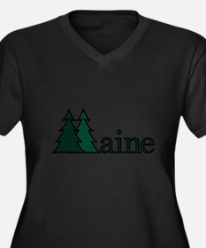 Maine Pine Tree Plus Size T-Shirt