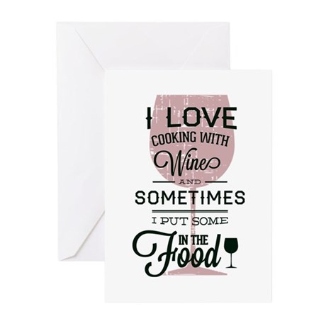Cooking With Wine Greeting Cards (Pk of 10)