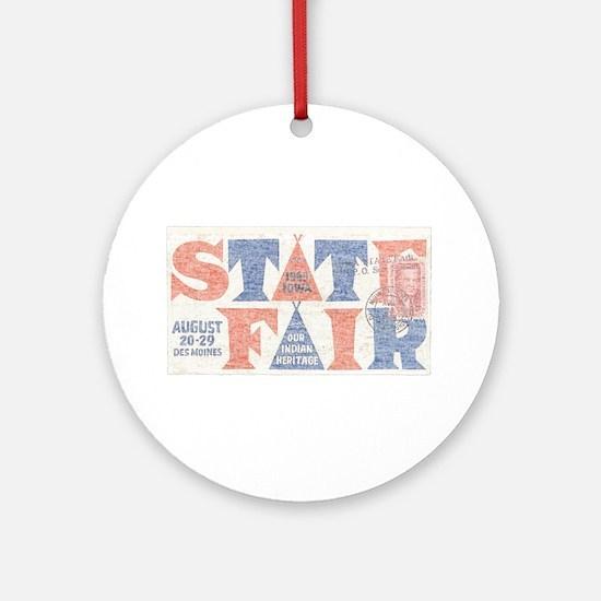 Vintage Iowa State Fair Ornament (Round)