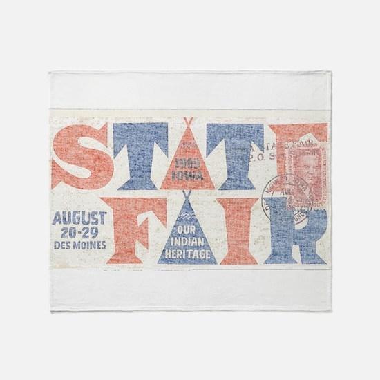 Vintage Iowa State Fair Throw Blanket