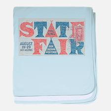 Vintage Iowa State Fair baby blanket