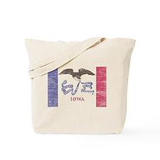 Iowa Vintage State Flag Tote Bag