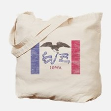 Iowa Vintage State Flag Tote Bag