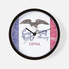 Iowa Vintage State Flag Wall Clock