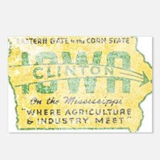 Vintage Clinton Iowa Postcards (Package of 8)