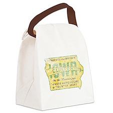 Vintage Clinton Iowa Canvas Lunch Bag