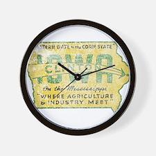Vintage Clinton Iowa Wall Clock