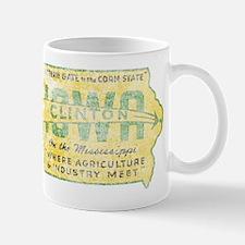 Vintage Clinton Iowa Mug