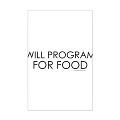 Will Program for Food Posters
