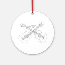 Iowa Guitars Ornament (Round)
