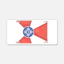 Vintage Wichita Kansas Flag Aluminum License Plate