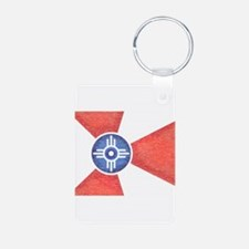 Vintage Wichita Kansas Flag Keychains