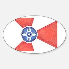 Vintage Wichita Kansas Flag Decal