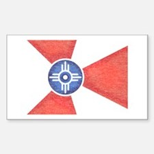 Vintage Wichita Kansas Flag Decal
