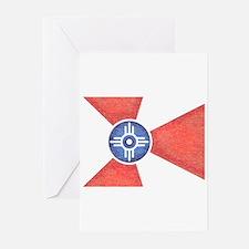 Vintage Wichita Kansas Flag Greeting Cards (Pk of