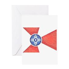 Vintage Wichita Kansas Flag Greeting Card