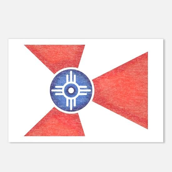 Vintage Wichita Kansas Flag Postcards (Package of