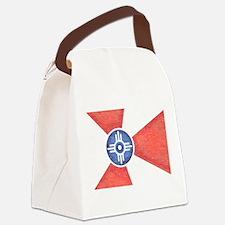Vintage Wichita Kansas Flag Canvas Lunch Bag
